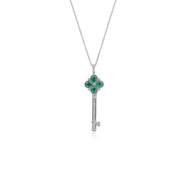 Natural Vivid Green Emerald Necklace, 0.66 Ct. (1.54 Ct. TW)