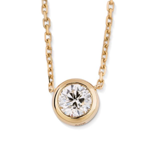 White Diamond Necklace, 0.40 Carat, Round shape, EG_Lab Certified, J5826066033