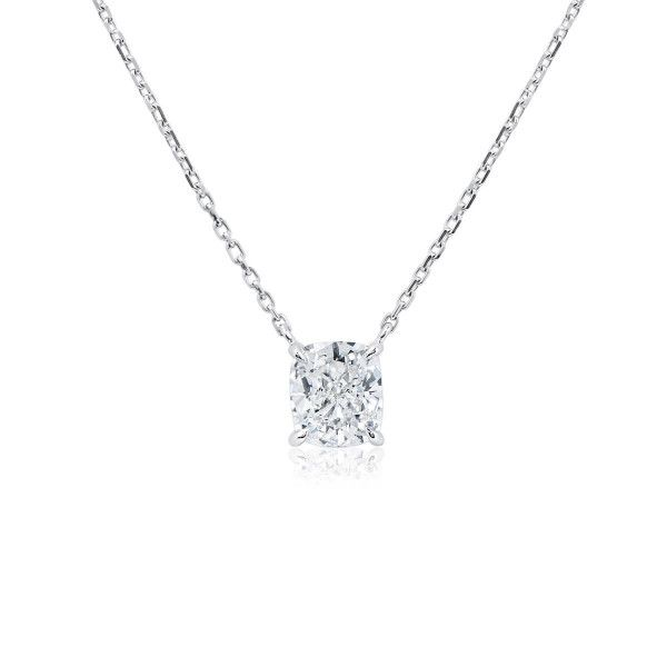 White Diamond Necklace, 1.08 Carat, Cushion shape, GIA Certified, 2336119386