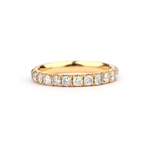 Scalloped Pave White Diamond full Eternity, 1.23 ct, I-J, SI1
