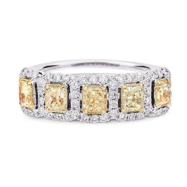 Fancy Intense Yellow Diamond Ring, 2.39 Ct. TW, Radiant shape