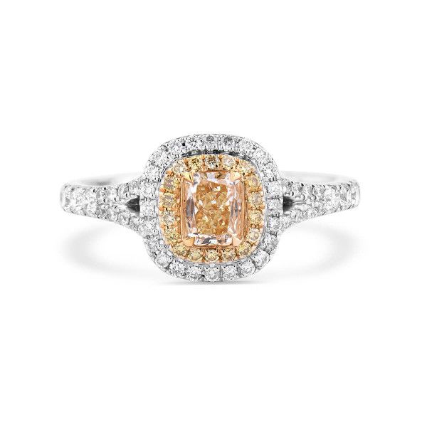 Fancy Yellow Diamond Ring, 0.58 Ct. (1.06 Ct. TW), Mix shape, ZSX Certified, 88857988466714