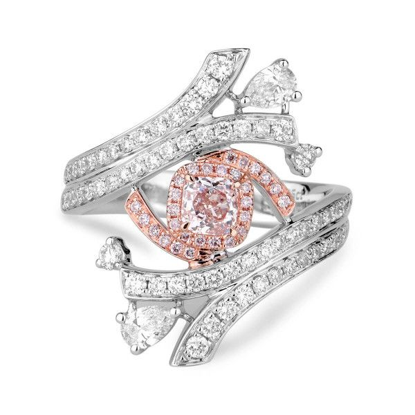 Light Pink Diamond Ring, 0.25 Ct. TW, Radiant shape, GIA Certified, 2171842525