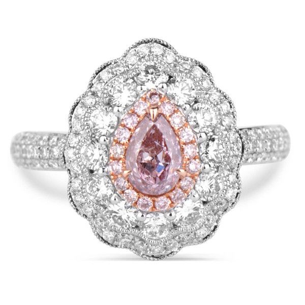 Fancy Brownish Pink Diamond Ring, 0.37 Ct. (1.27 Ct. TW), Pear shape, GIA Certified, 1186351398