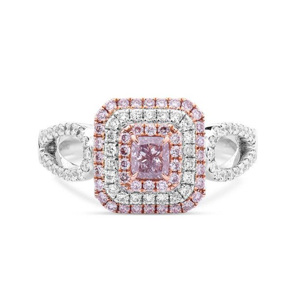 Fancy Brownish Pink Diamond Ring, 0.87 Ct. TW, Radiant shape, GIA Certified, 2185351636