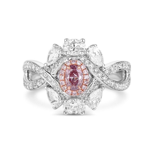 Fancy Purple Pink Diamond Ring, 1.37 Ct. TW, Oval shape, GIA Certified, 2183351455