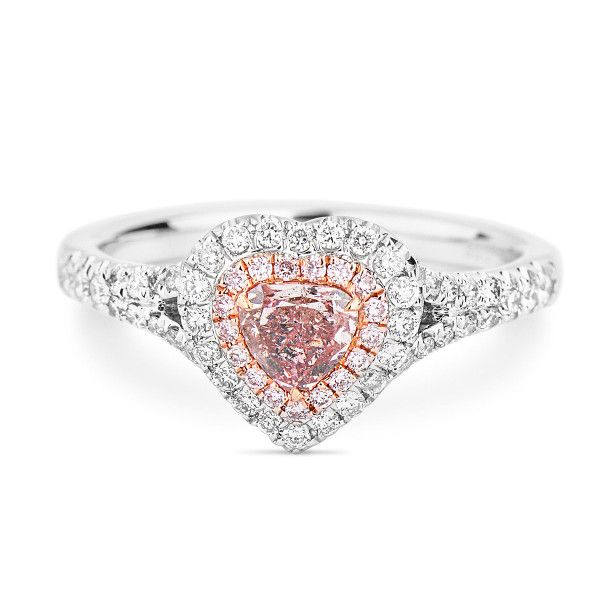 Fancy Brownish Pink Diamond Ring, 0.37 Ct. (0.76 Ct. TW), Heart shape, GIA Certified, 2175388920