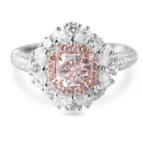 Faint Pink Diamond Ring, 2.78 Ct. TW, Radiant shape, GIA Certified, 2175042113