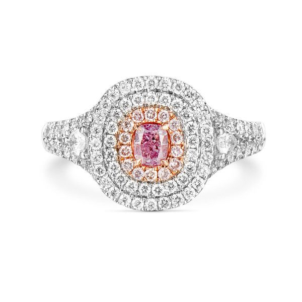Fancy Intense Purple Pink Diamond Ring, 0.90 Ct. TW, Radiant shape, GIA Certified, 5171694357