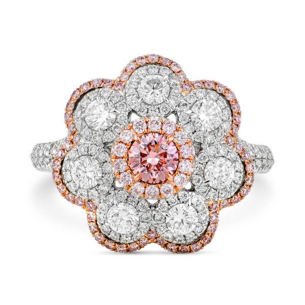 Fancy Pink Diamond Ring, 0.25 Ct. (1.39 Ct. TW), Round shape, GIA Certified, 5171927907