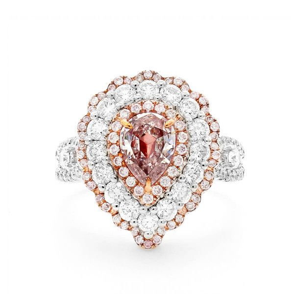 Light Pink Diamond Ring, 1.99 Ct. TW, Pear shape, GIA Certified, 2274941260