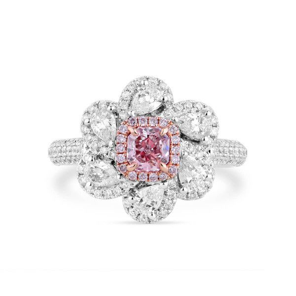Very Light Pink Diamond Ring, 0.40 Ct. (1.53 Ct. TW), Radiant shape, GIA Certified, 1159172814