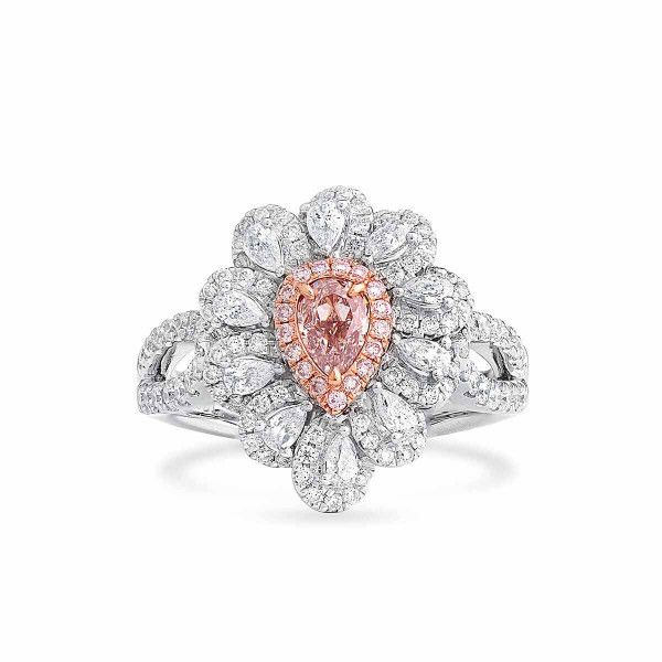 Light Pink Diamond Ring, 0.32 Ct. (1.17 Ct. TW), Pear shape, GIA Certified, 1192535165
