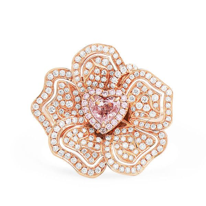 Fancy Light Brownish Pink Diamond Ring, 0.34 Ct. (0.92 Ct. TW), Heart shape, GIA Certified, 2191307915