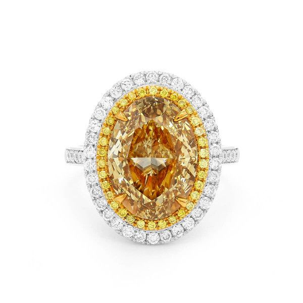 Fancy Brownish Yellow Diamond Ring, 5.00 Ct. (5.79 Ct. TW), Oval shape, GIA Certified, 6295304781