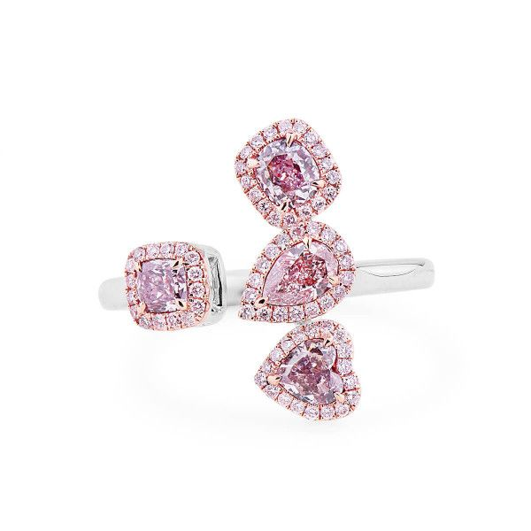 Fancy Light Pink Brown Diamond Ring, 0.90 Ct. (1.11 Ct. TW), Mix shape, GIA Certified, JCRF05439641