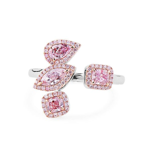 Light Pink Diamond Ring, 0.83 Ct. (1.04 Ct. TW), Mix shape, GIA Certified, JCRF05439658