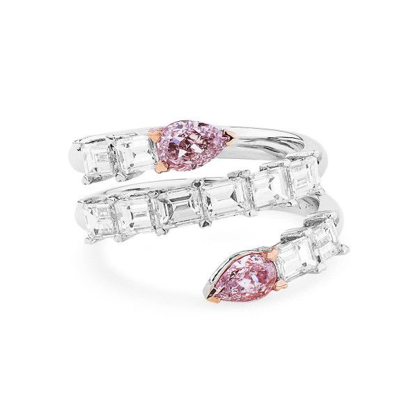 Light Pink Diamond Ring, 0.67 Ct. (2.53 Ct. TW), Pear shape, GIA Certified, JCRF05439664