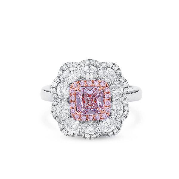 Light Pink Diamond Ring, 0.78 Ct. (2.17 Ct. TW), Radiant shape, GIA Certified, 5182346323