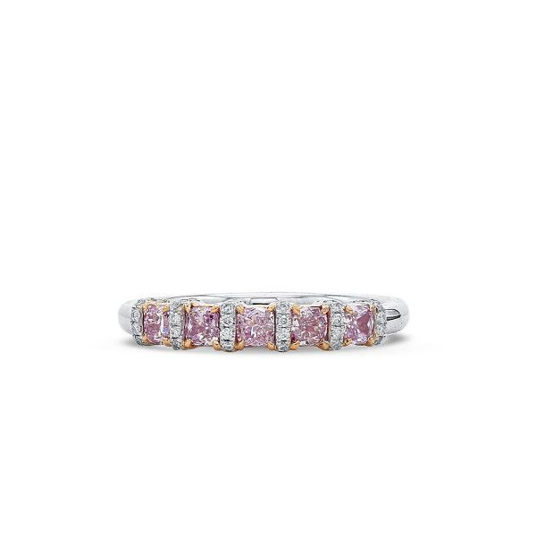 Fancy Pink Diamond Ring, 0.51 Ct. (0.64 Ct. TW), Cushion shape