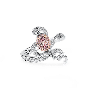 Fancy Purple Pink Diamond Ring, 0.31 Ct. (0.81 Ct. TW), Oval shape, GIA Certified, 6252981608