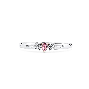 Fancy Pink Diamond Ring, 0.07 Ct. (0.11 Ct. TW), Pear shape