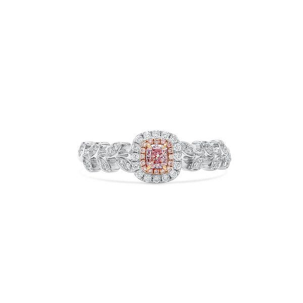 Fancy Brownish Purple Pink Diamond Ring, 0.14 Ct. (0.32 Ct. TW), Radiant shape, GIA Certified, 6207212894