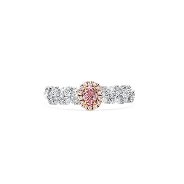 Fancy Purple Pink Diamond Ring, 0.21 Ct. (0.36 Ct. TW), Oval shape, GIA Certified, 5192358999