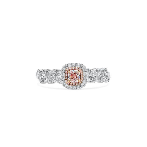 Faint Pink Diamond Ring, 0.18 Ct. (0.36 Ct. TW), Radiant shape, GIA Certified, 5192307818