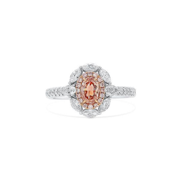 Fancy Brown Pink Diamond Ring, 0.42 Ct. (1.13 Ct. TW), Oval shape, GIA Certified, 2205556983