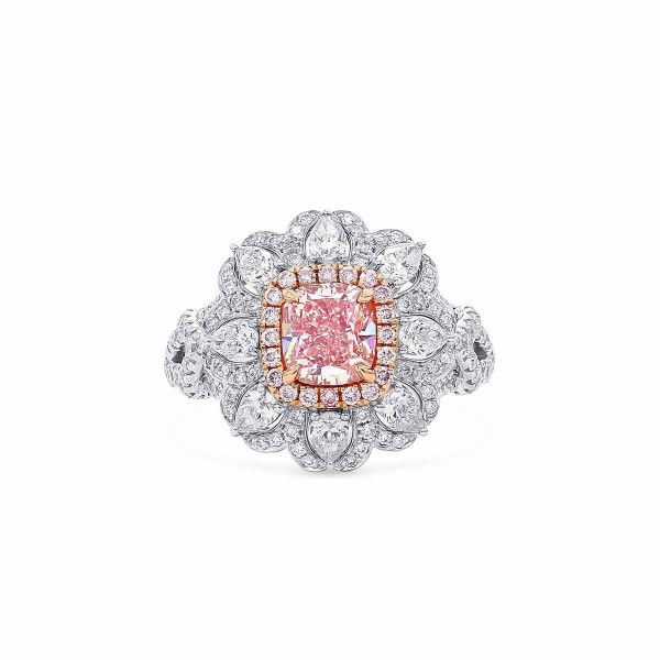 Fancy Brownish Pink Diamond Ring, 1.02 Ct. (2.22 Ct. TW), Cushion shape, GIA Certified, 2205199168
