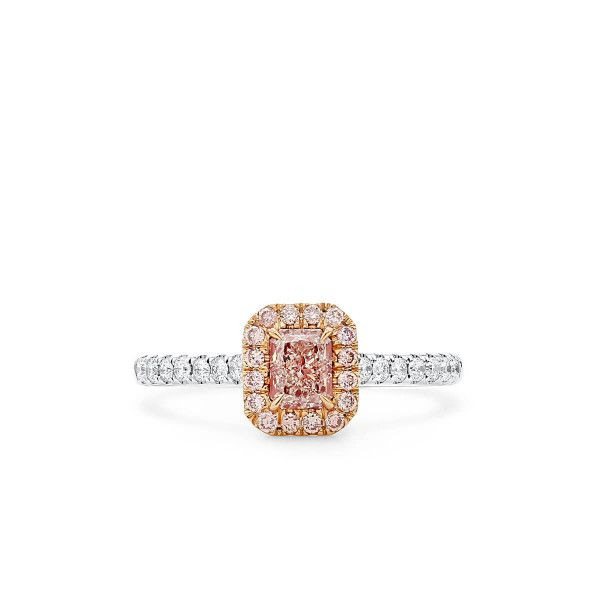Very Light Pink Diamond Ring, 0.45 Ct. (0.73 Ct. TW), Radiant shape, GIA Certified, 7348048628