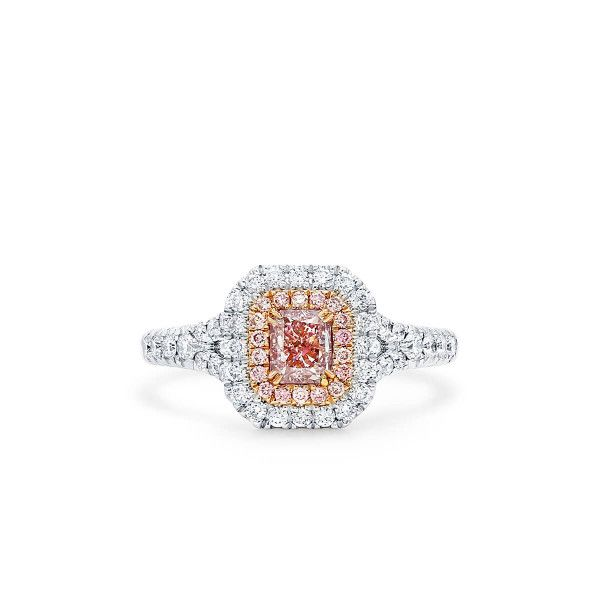 Light Pink Diamond Ring, 0.51 Ct. (1.00 Ct. TW), Radiant shape, GIA Certified, 1349080393