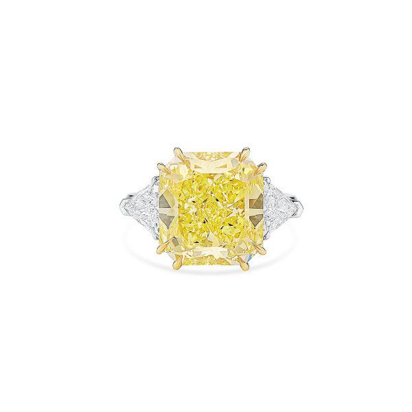 Fancy Yellow Diamond Ring, 10.02 Ct. (11.09 Ct. TW), Radiant shape, GIA Certified, 2205722052