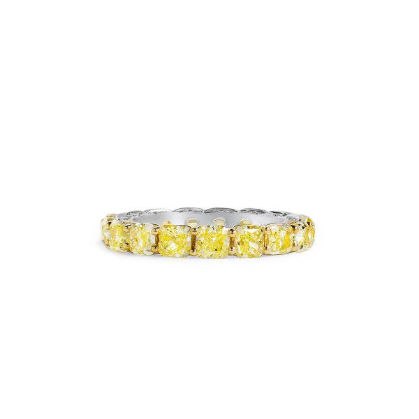 Fancy Light Yellow Diamond Ring, 4.44 Ct. (4.75 Ct. TW), Mix shape