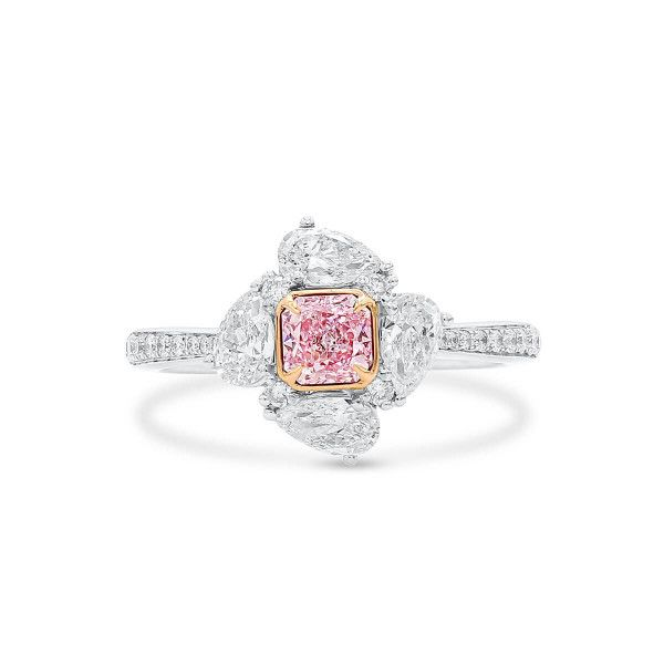 Very Light Pink Diamond Ring, 0.40 Ct. (1.35 Ct. TW), Radiant shape, GIA Certified, 1333290985