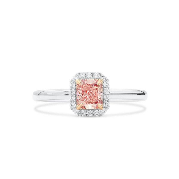 Fancy Light Pink Diamond Ring, 0.66 Ct. (0.75 Ct. TW), Radiant shape, GIA Certified, 6204081017