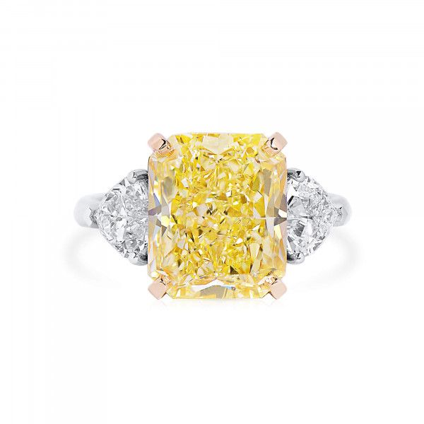 Fancy Yellow Diamond Ring, 7.08 Ct. (8.48 Ct. TW), Radiant shape, GIA Certified, 5201729998