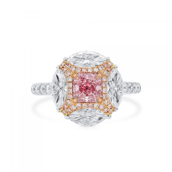 Light Pink Diamond Ring, 0.80 Ct. (2.47 Ct. TW), Radiant shape, GIA Certified, 7286524389