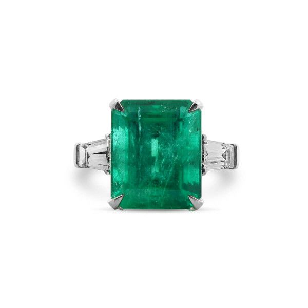 Natural Green Colombia Emerald Ring, 8.94 Ct. TW, GRS Certified, GRS2017-088477, Unheated
