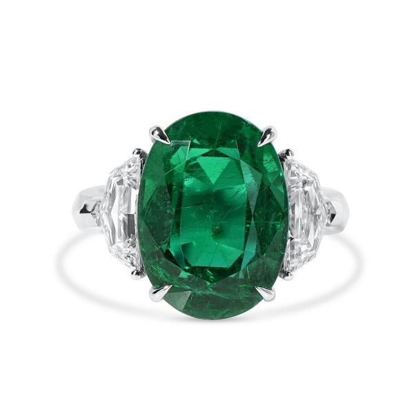 Natural Vivid Green Emerald Ring, 8.50 Ct. (9.77 Ct. TW), GRS Certified, JCRG01095578