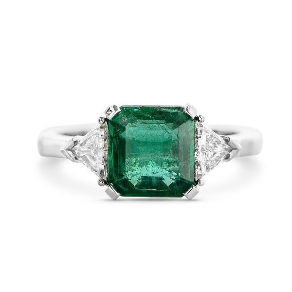 Natural Green Emerald Ring, 2.05 Ct. (2.47 Ct. TW), EG_Lab Certified, J5826189241, Unheated