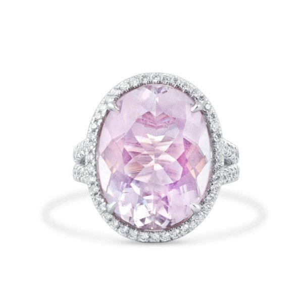 Natural PINK Morganite Ring, 11.08 Ct. (11.96 Ct. TW), IGL Certified, J91304725IL, Unheated