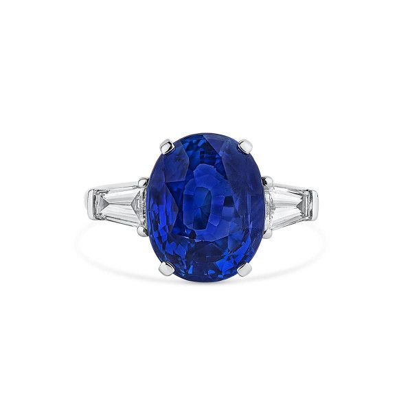 Natural Blue Sapphire Ring, 7.58 Carat, GRS Certified, GRS2014-017146, Unheated