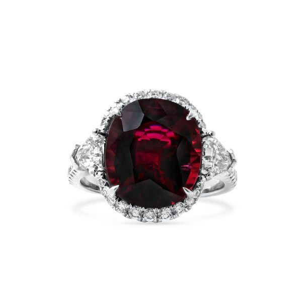 Natural Red Rubellite Ring, 6.57 Ct. (7.89 Ct. TW), IGL Certified, J37920311IL, Unheated