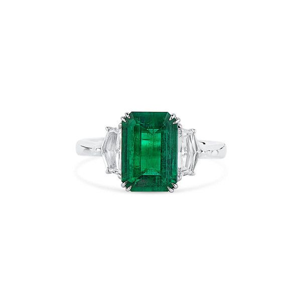 Natural Vivid Green Emerald Ring, 2.67 Ct. (3.27 Ct. TW), GRS Certified, GRS2020-028208
