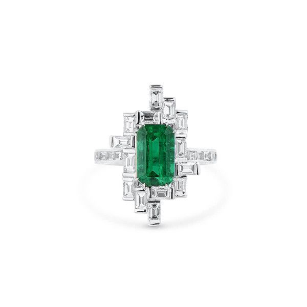 Natural Vivid Green Emerald Ring, 2.36 Ct. (3.80 Ct. TW), GRS Certified, GRS2020-028210