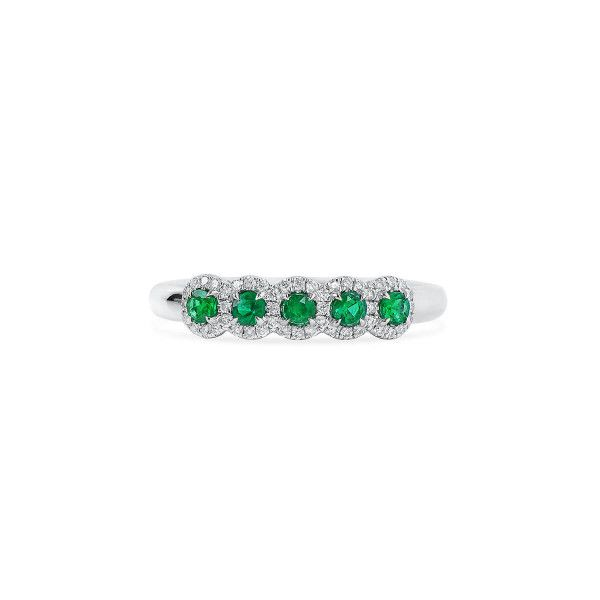 Natural Green Emerald Ring, 0.25 Ct. (0.40 Ct. TW), MA Certified, GA565832