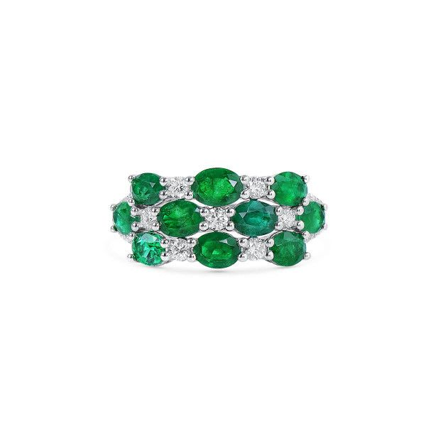 Natural Green Emerald Ring, 2.36 Ct. (2.77 Ct. TW)