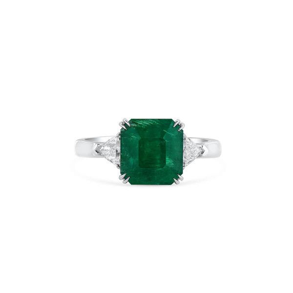 Natural Vivid Green Emerald Ring, 3.71 Ct. (4.09 Ct. TW), GRC Certified, G2007170040